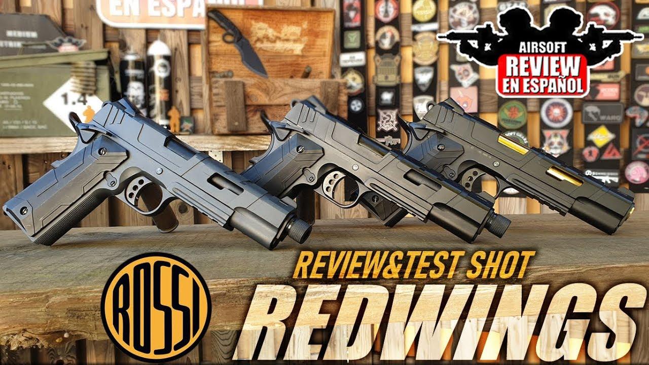 1911 REDWINGS par Rossi GBB / Co2 par: Jay Combattech – EXAMEN ET TEST SHOT | Airsoft Review en espagnol