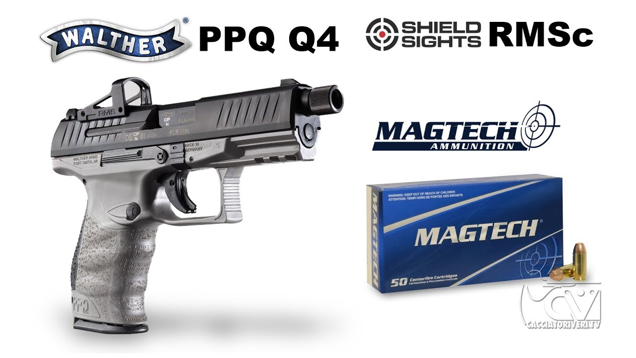 """Walther PPQ Q4 TAC 4 6 """"9×21 combo"""