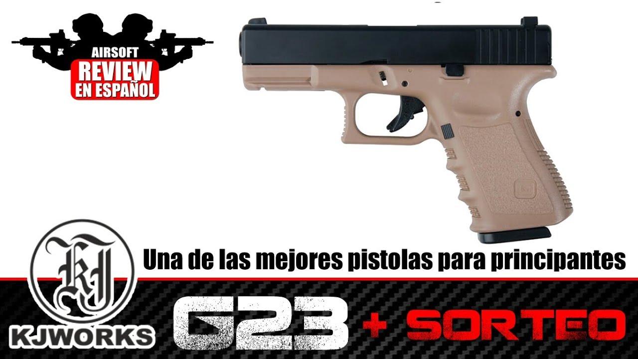 DRAW G23 KJW Le meilleur pistolet pour débutant? Avis Airsoft en espagnol