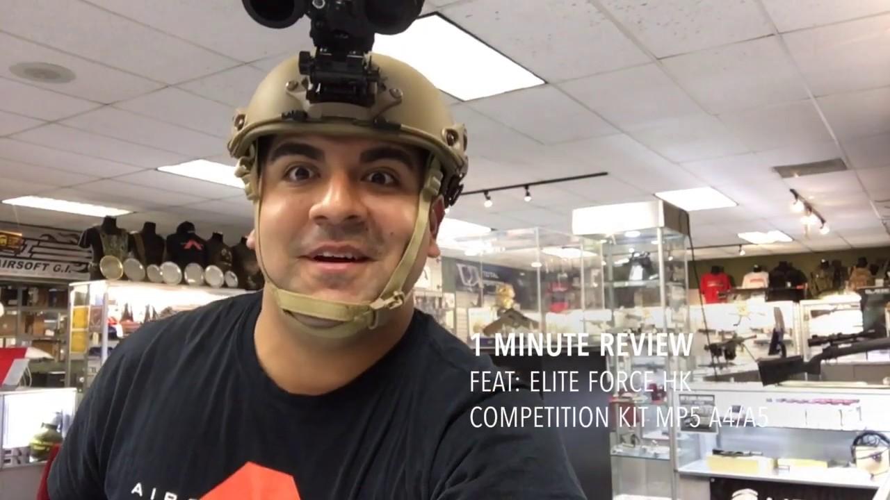 Revue en 1 minute avec le concours Elite Force HK MP5 A4 / A5 AEG