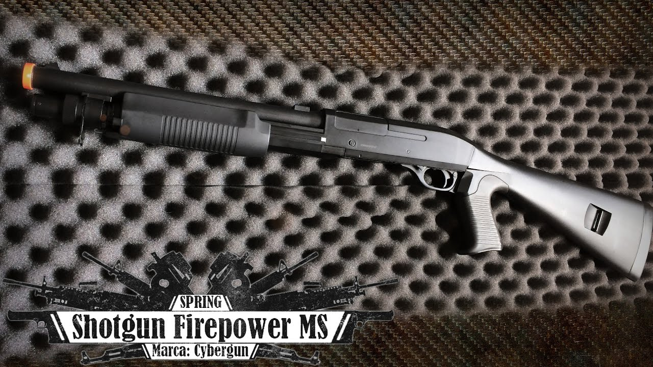 Cybergun Spring Firepower MS Shotgun (12 Airsoft Review BR)