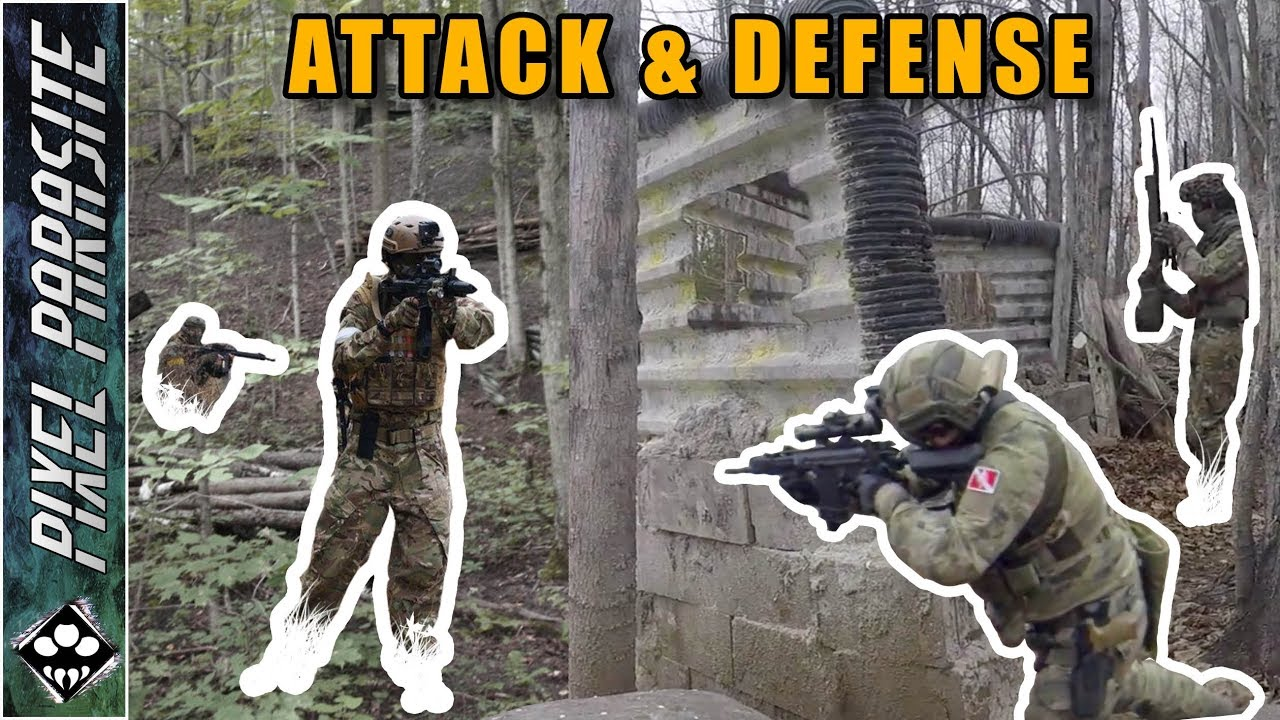 Attaque et défense – Barrie Paintball Private Airsoft Outdoor Game (Part 1)