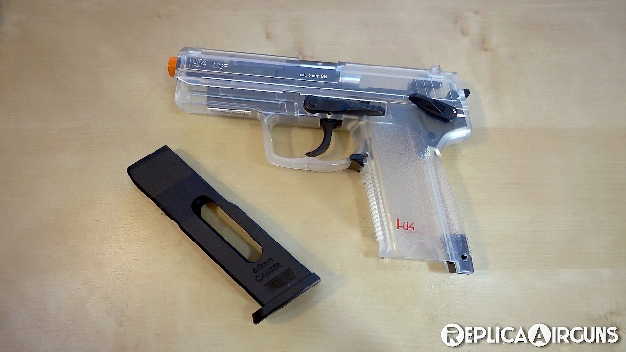 Umarex HK USP Clear CO2 Airsoft Gun Table Top Review