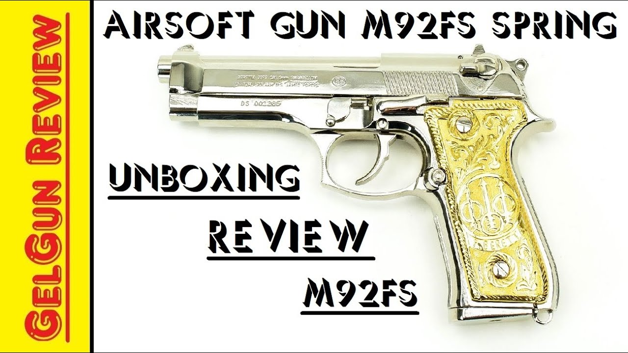 Unboxing AirSoft Gun M92FS Spring