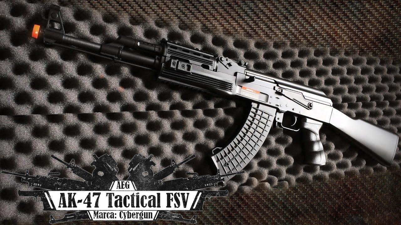 Carabine électrique Cybergun AK-47 Tactical FSV (Airsoft Review BR)
