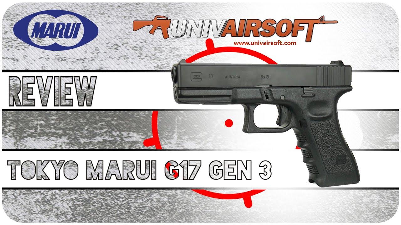 Airsoft Review ENG SUB – Tokyo Marui Glock G17 GBB GEN 3 avec test de tir – Univairsoft.com