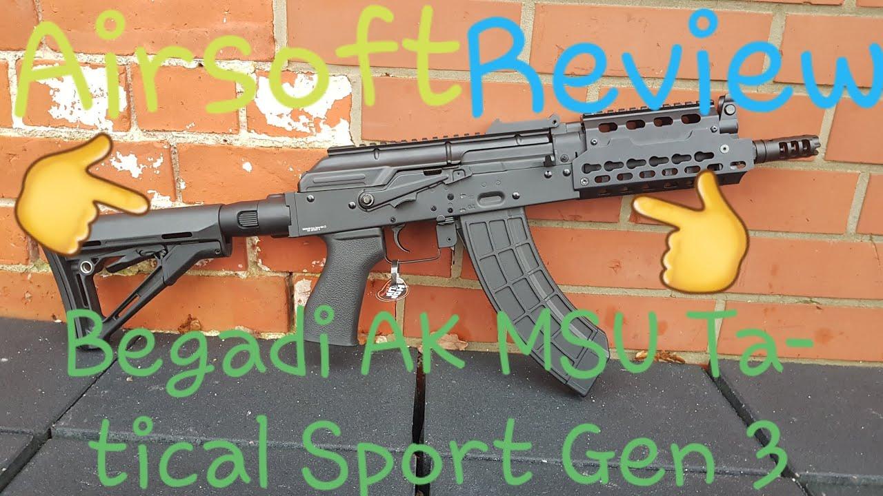 Critique Airsoft: Begadi Ak MSU Tatical Sport Gen 3 sAEG