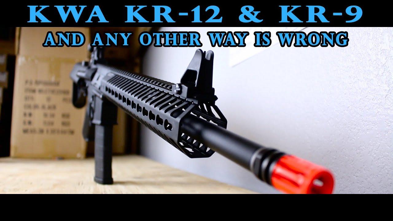 Test du KWA KR12 et KR9 Airsoft
