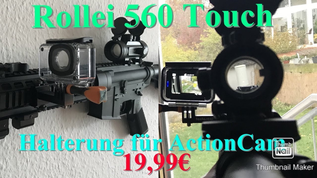Revue Action Cam Rollei 560 Touch / Mount pour arme (Airsoft)
