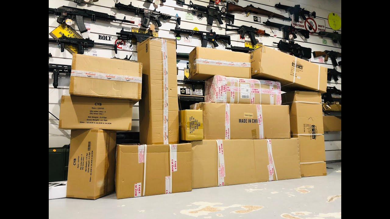MEGA UNBOXING AIRSOFT / BIGGEST AIRSOFT UNBOXING EVER