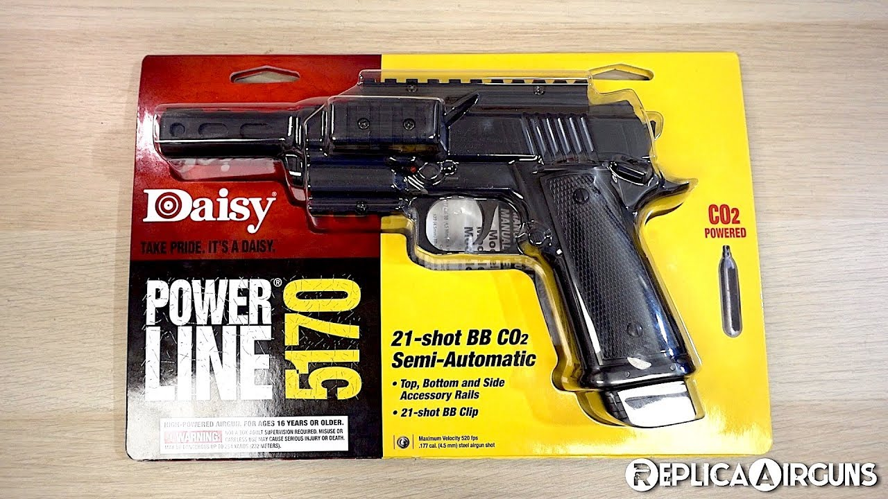 Daisy Powerline 5170 CO2 BB Pistol Table Top Review