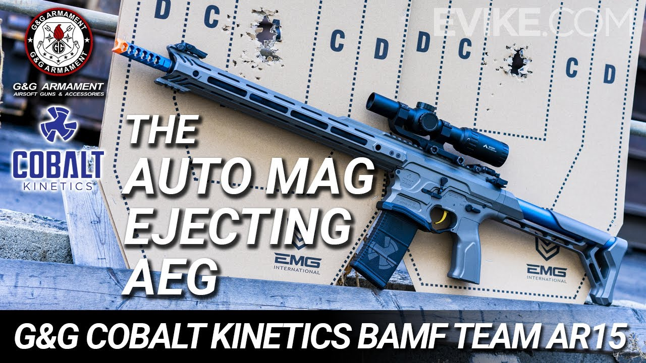 The Auto Mag Ejecting AEG – G&G Cobalt Kinetics BAMF TEAM AR15 – 6mm Review