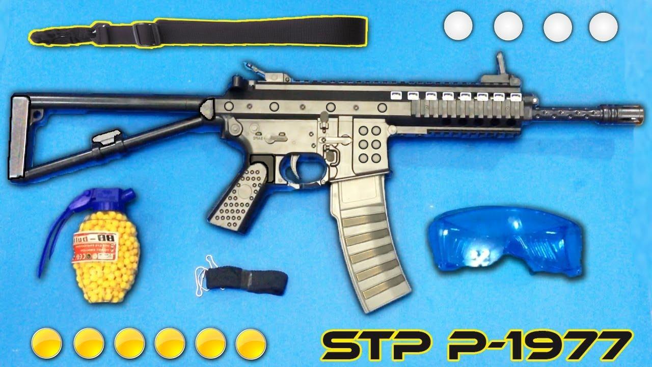 Pistolet à balle en plastique réaliste Airsoft Gun P-1977   BB Gun Toy Shooting