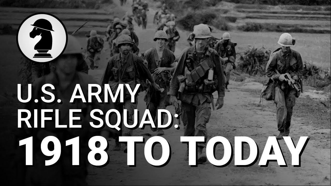 Évolution de la US Army Rifle Squad (WWI to Now)