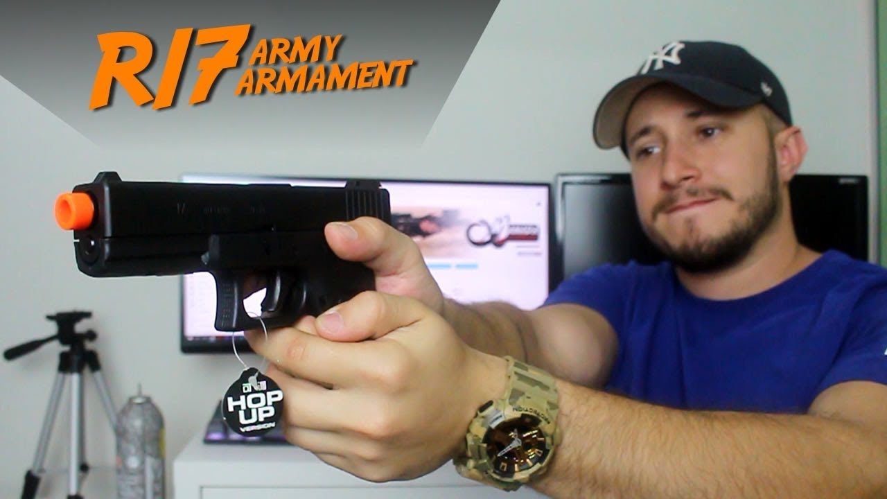 REVUE – Glock G17 R17 | Airsoft ARMY ARMAMENT GBB (PT-BR)