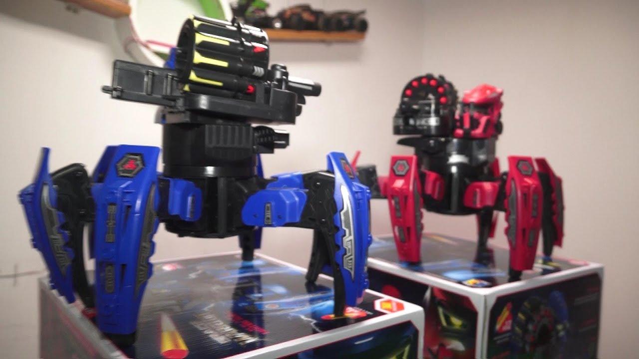 Bataille de robots Robots blindés et armés à 6 pattes