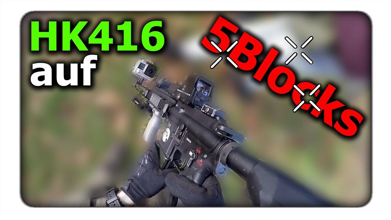 HK416 et Glock 17 sur 5 blocs – GBB uniquement