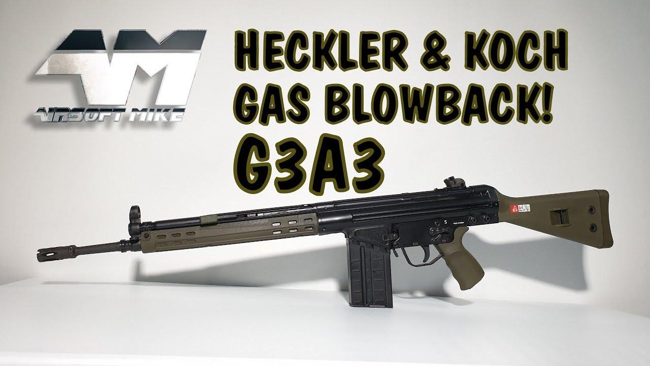 UMAREX HK G3A3 GAZ BLOWBACK / Licence officielle H&K G3 GBBR / VFC