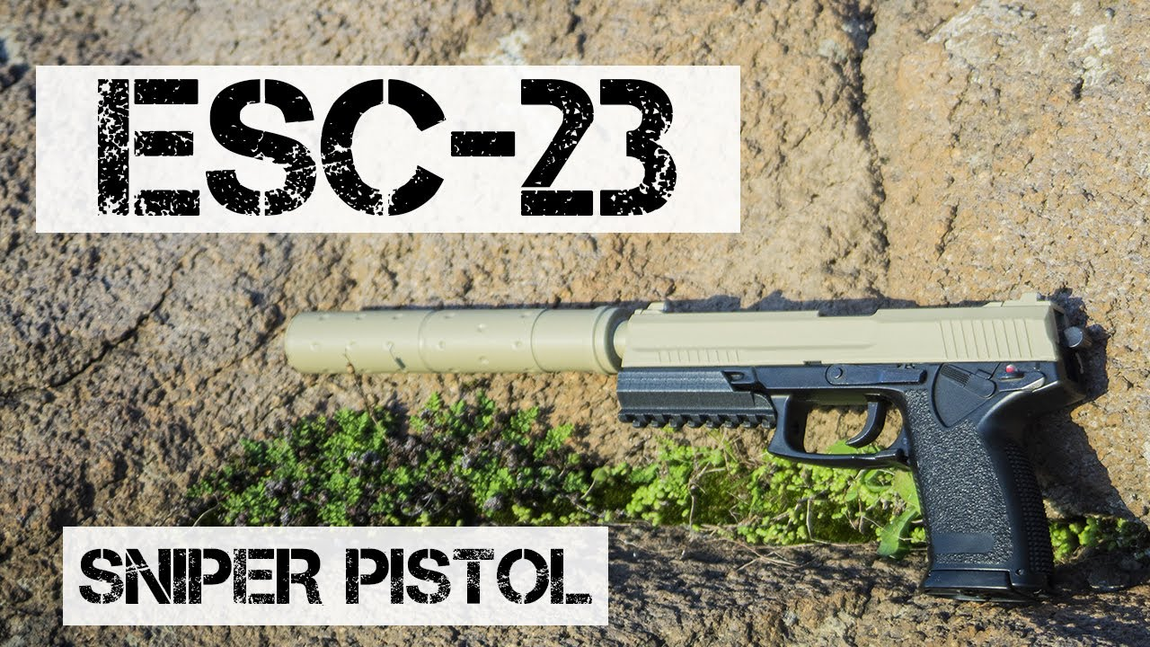 AIRSOFT ESC23 – LE PISTOLET SNIPER SUPERSILENT