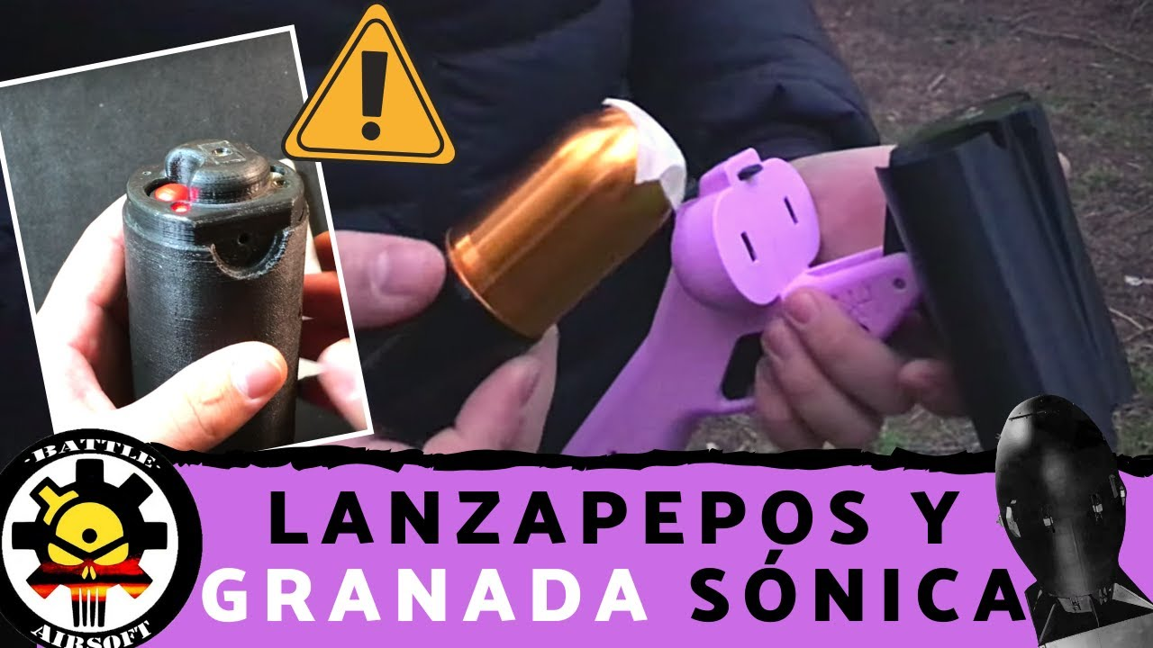 UN LANZAPEPOS avec double CANNON, SONIC GRANADA et pièces 3D // AIRSOFT ESPAÑOL