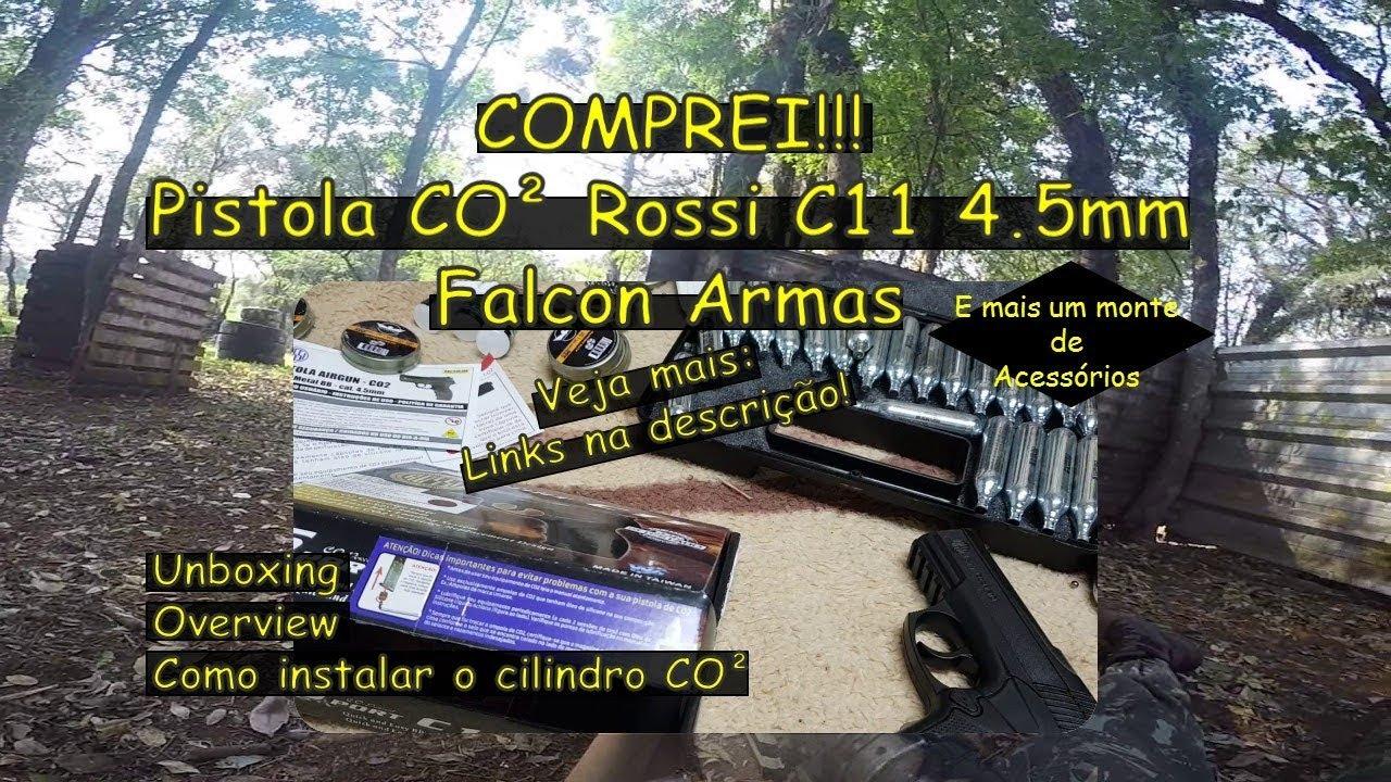 Je l'ai acheté! Pistolet Airsoft Rossi C11 CO2 4,5 mm et accessoires divers! | Geekmedia
