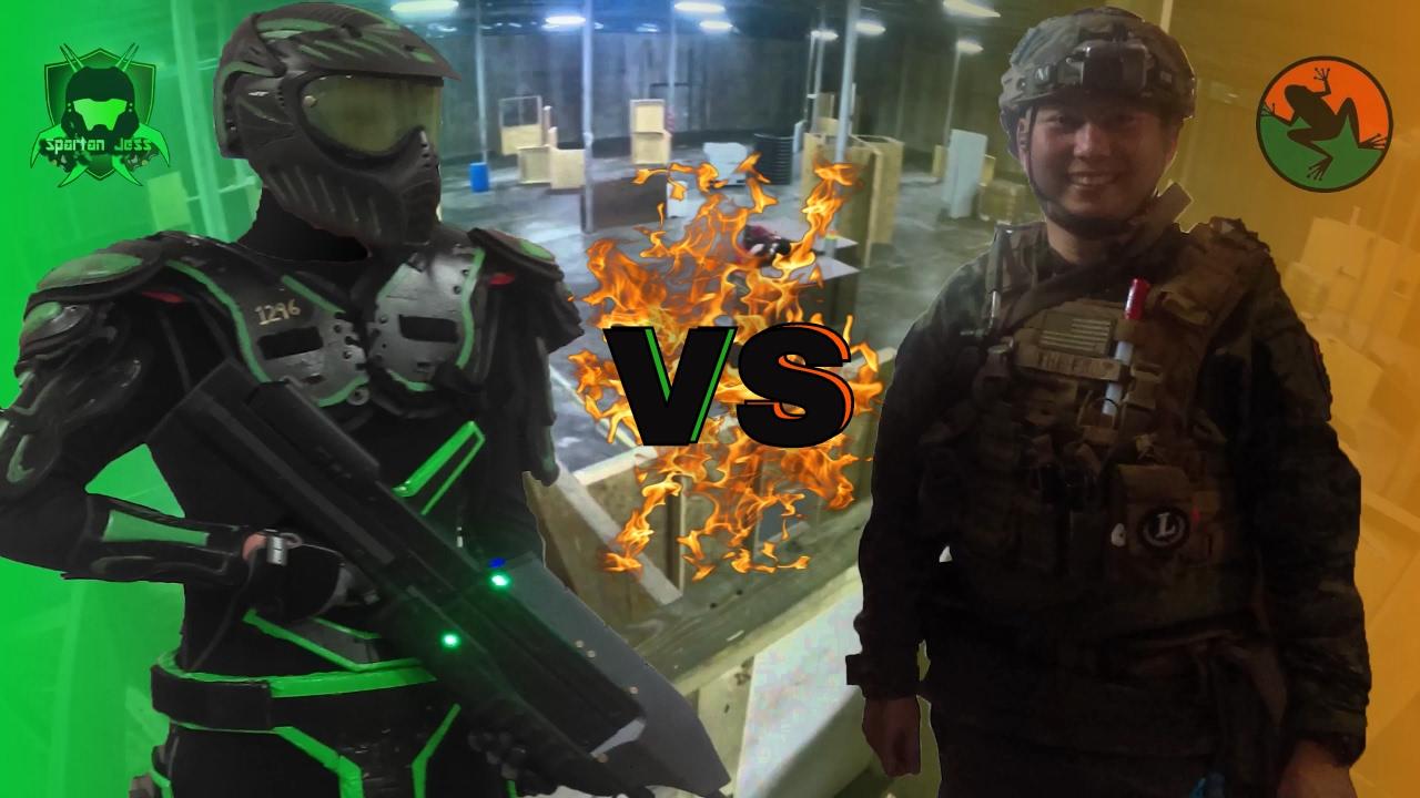 Epic Airsoft 1v1 – Le spartiate Jess contre la grenouille