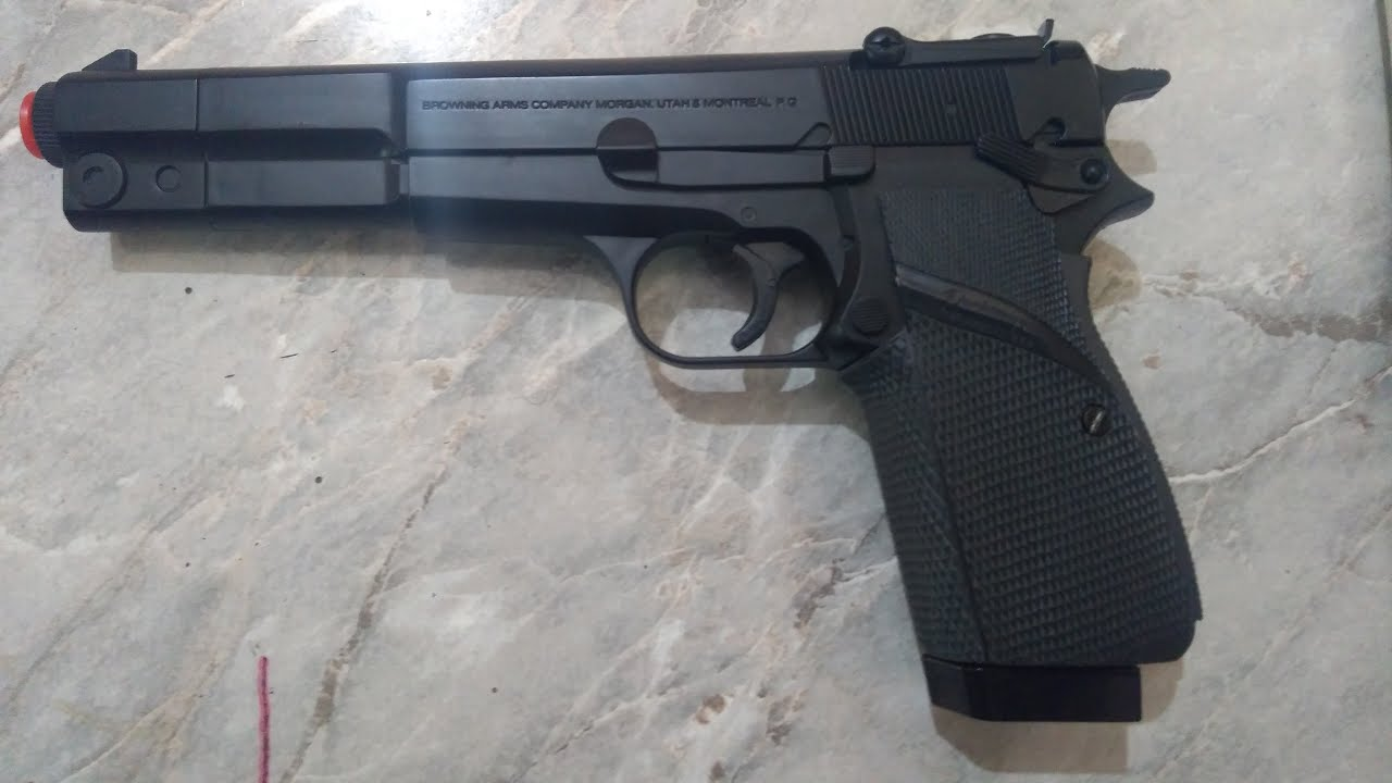 Revue de Browning HP Competition Airsoft Spring Revolver de Browning HP Airsoft Spring