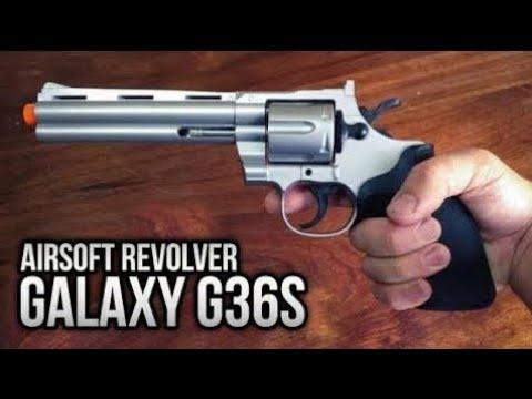 Aujourd'hui est le jour du déballage: Airsoft Gun G36S Revolver 38 3 Windows 6mm Galaxy Small Review
