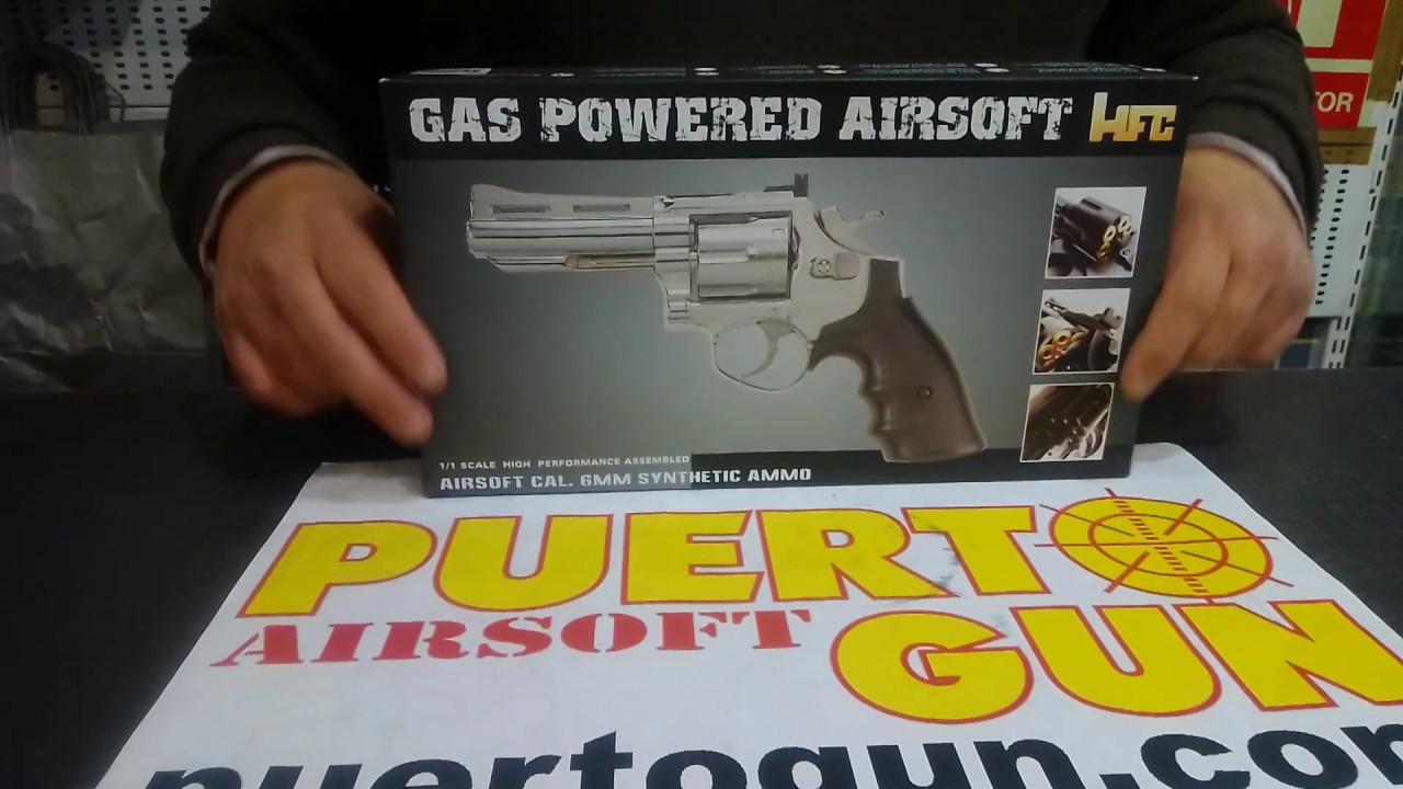 HFC – REVOLVER GAS 4 INCH SAVAGING BULL BLACK (puertogun airsoft airsoftgun bbgun airsoftint)