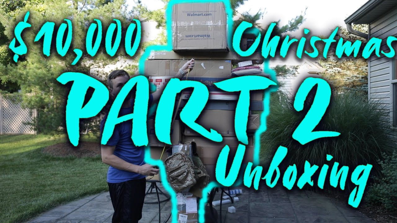 MON PLUS GRAND UNBOXING AIRSOFT 10000 $ Unboxing Airsoft Noël massif Pt. 2