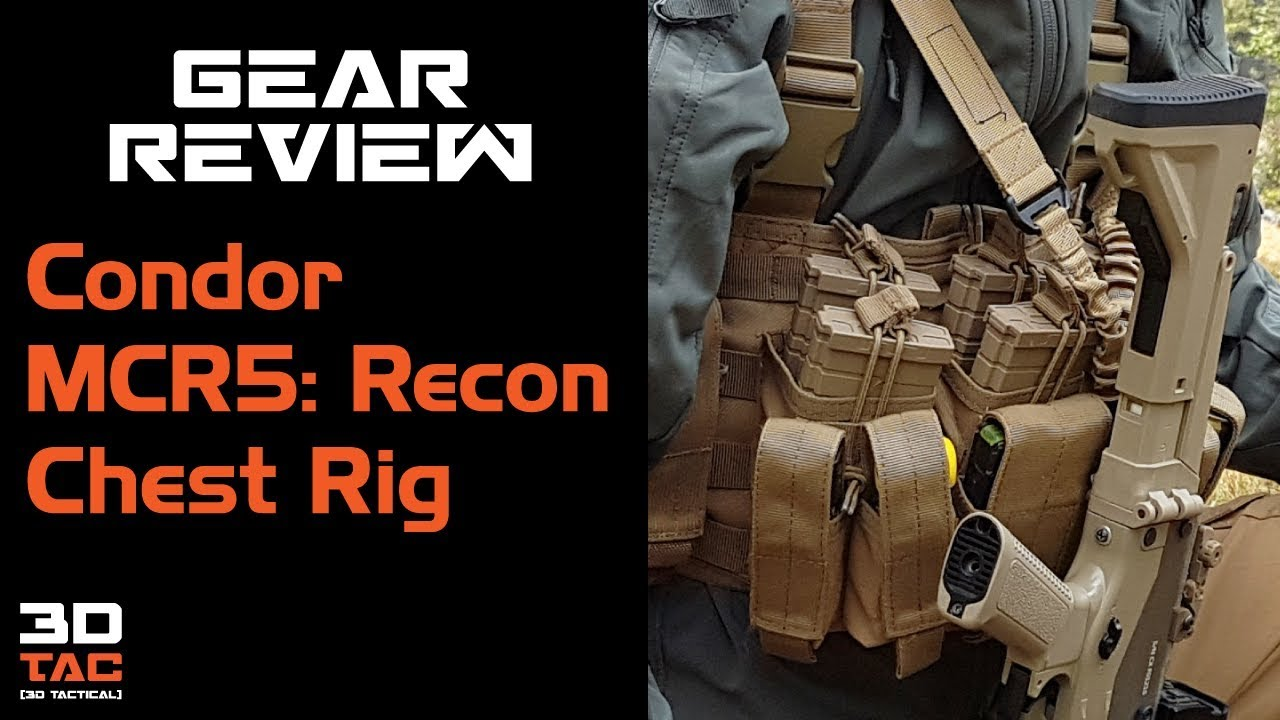 Airsoft Gear Review / Condor MCR5: Recon Chest Rig en espagnol.