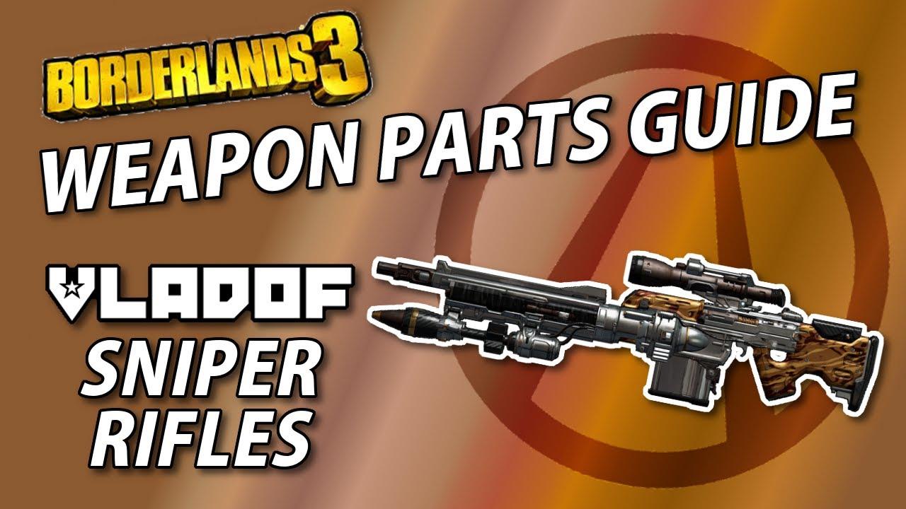 Guide des pièces d'armes Borderlands 3   Fusils de sniper Vladof