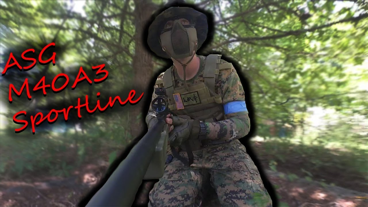 ASG M40A3 Sportline Airsoft Sniper Gameplay