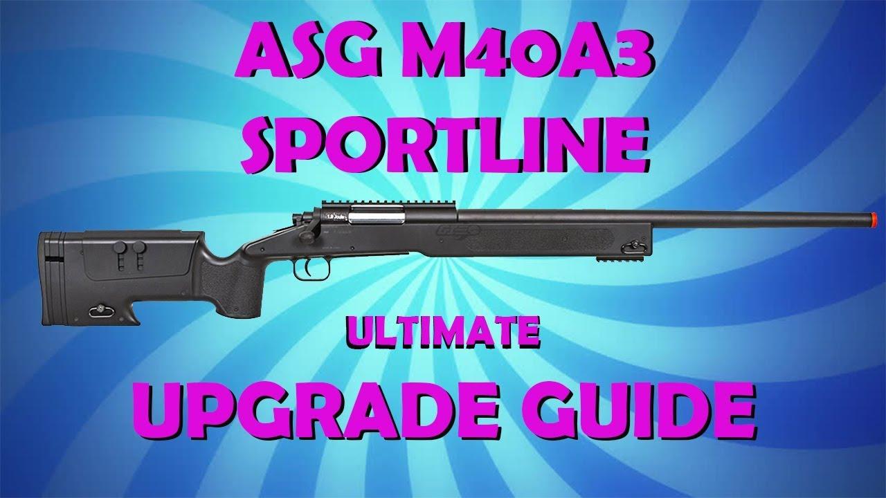 Guide de mise à niveau ASG M40A3 Sportline (Démontage, Action Army Hop Up, Tutoriel, Mises à niveau, Remontage)
