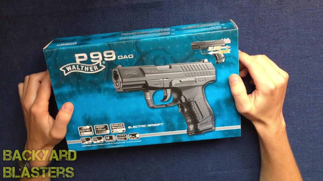 Pistolet Airsoft Walther Dao P99 entièrement automatique Umarex