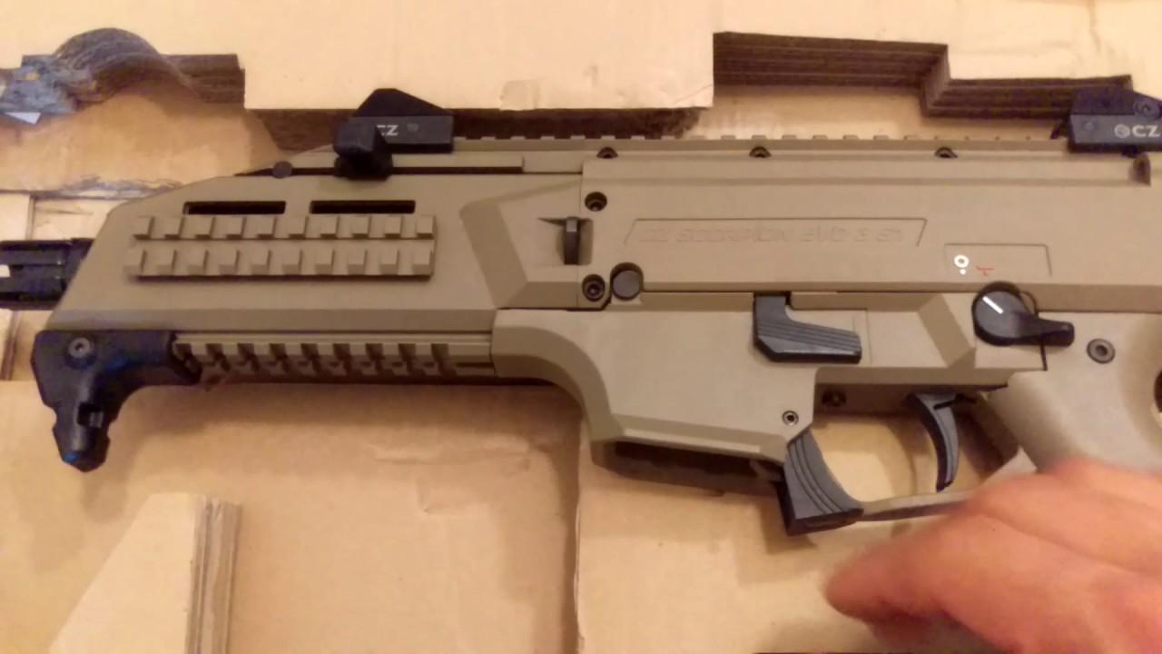 Pistolet CZ Scorpion Evo S1 Unboxing!