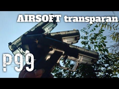 DÉBALLAGE & avis AIRSOFT P99 transparent