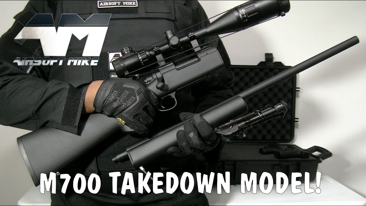 KJ WORKS M700 TAKEDOWN MODEL / Airsoft Sniper Rifle Unboxing & Review
