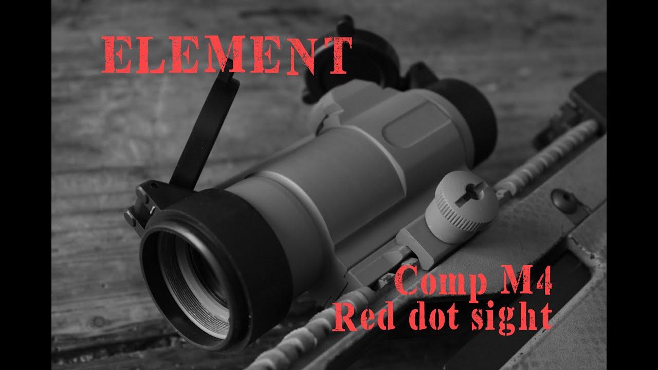 AIRSOFT | REVUE | TBC | Viseur point rouge Element Comp M4 (SUBS ANGLAIS)