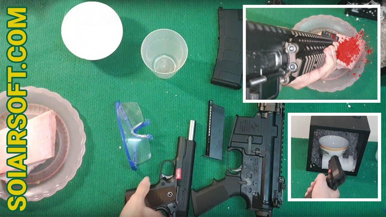 SOIAIRSOFT.COM – Vérifier la destruction des pistolets Airsoft (billes en plastique) très puissants
