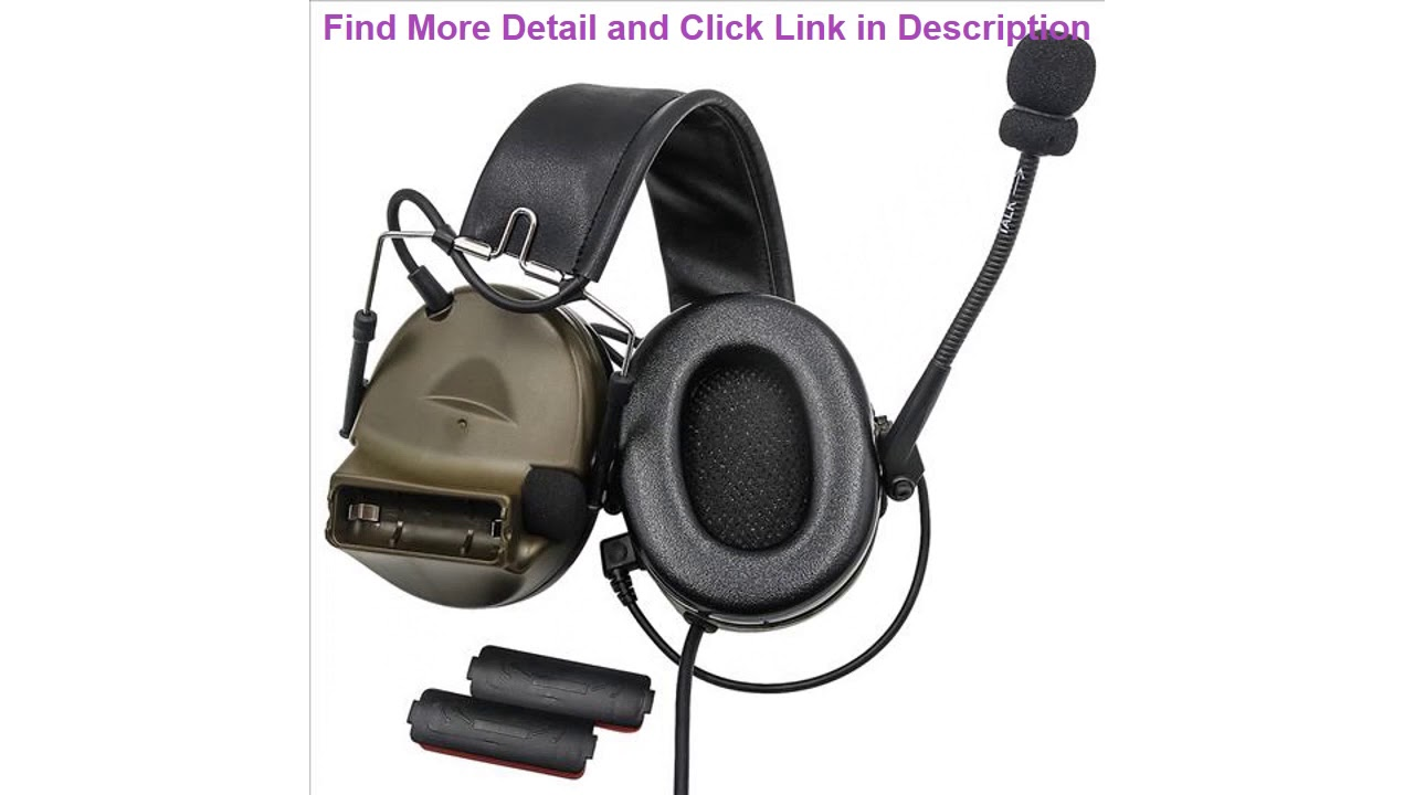 Examen Casque tactique Comtac II Casque militaire Airsoft Réduction du bruit Micro casque FG +