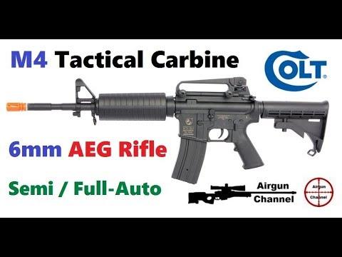 Carabine tactique COLT M4 AirSoft Rifle Review – 49 $ Full Auto AEG Electric 6mm BB Gun