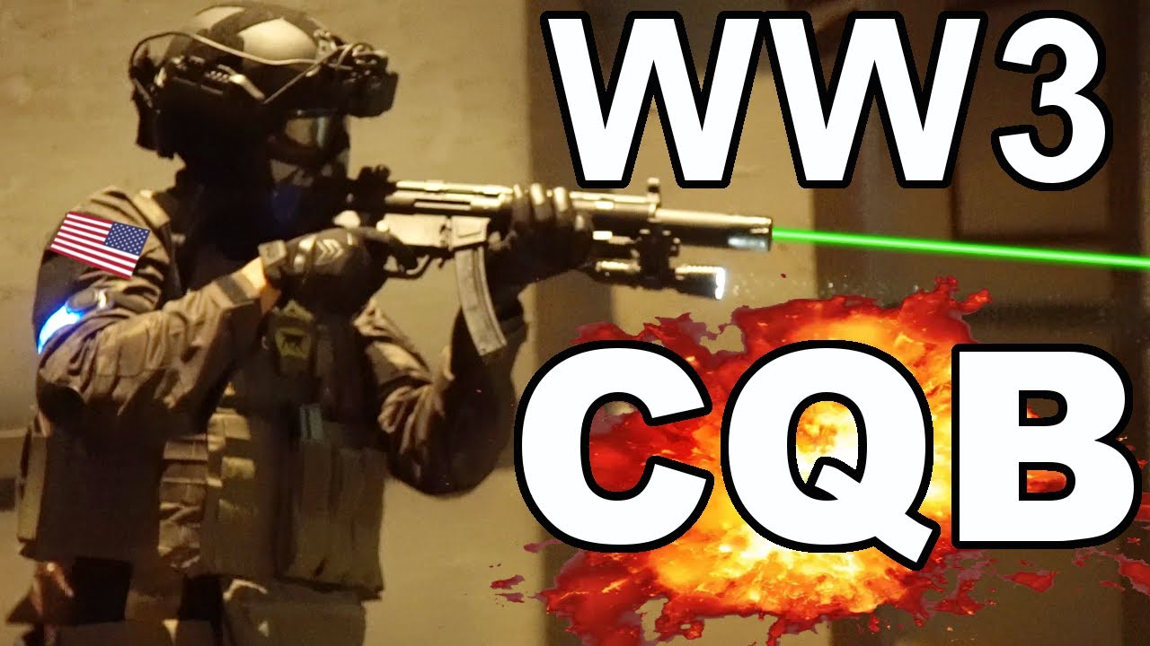 Airsoft WW3 CQB avec un ridicule Airsoft Cheater (Elite Force H&K MP5SD6 Competition Series)