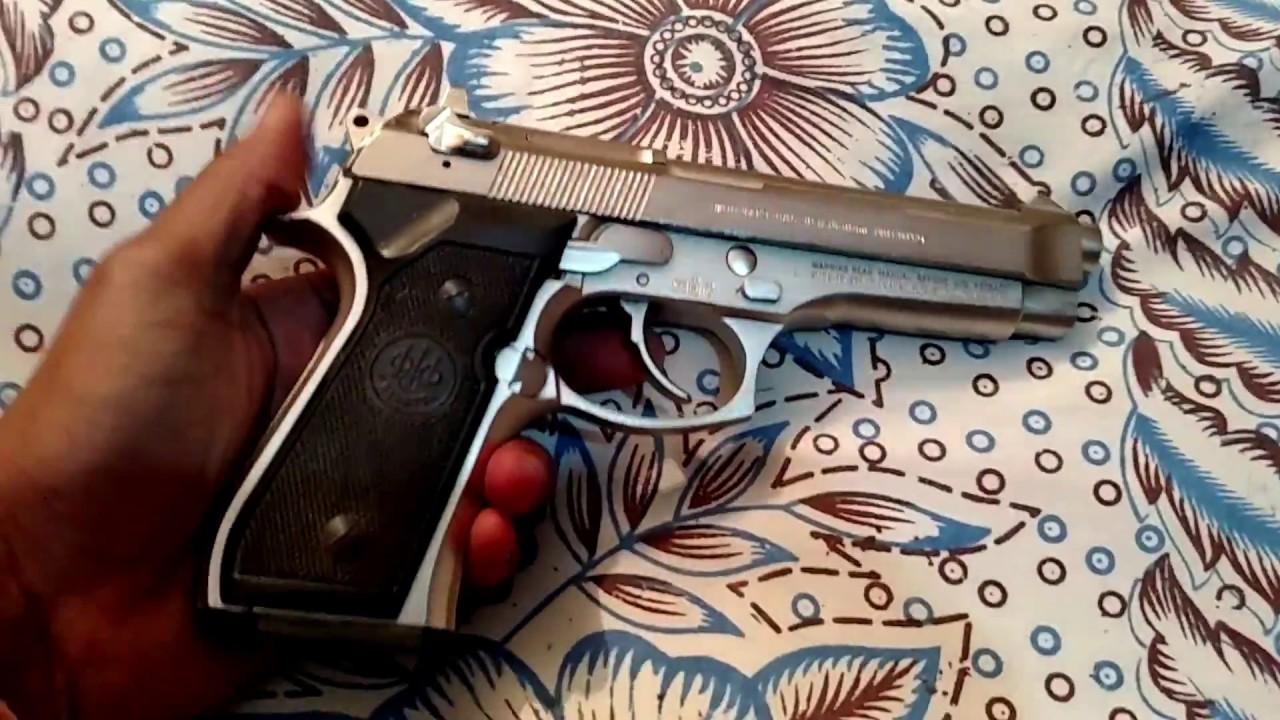 Avez-vous déjà vu un si beau pistolet desi? Pistolet Beretta Inox 9 mm fabriqué au Pakistan