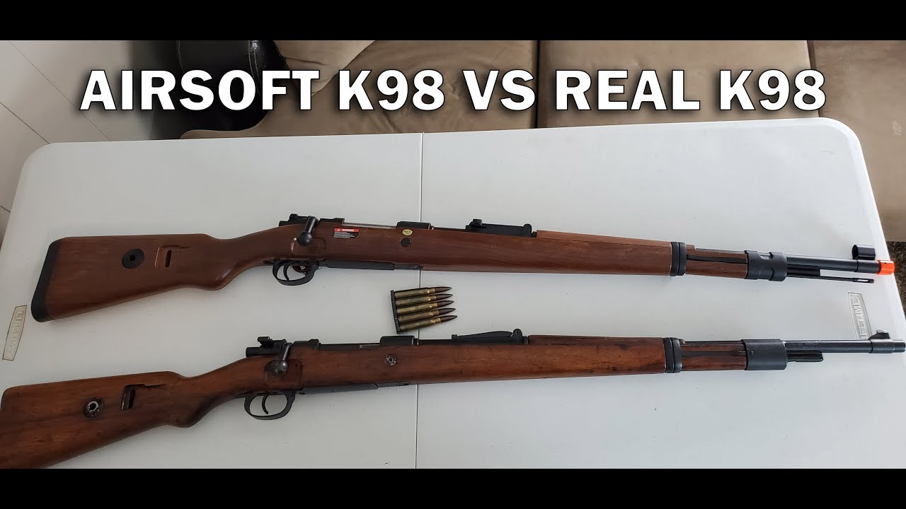 Airsoft K98 VS Real WWII K98