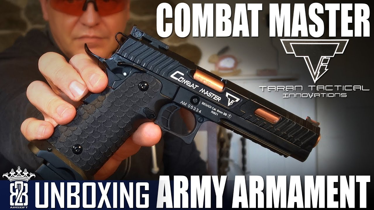 Armement militaire R601 – TTI Combat Master Airsoft – Unboxing Allemand