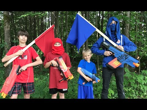 Nerf Capturez le drapeau: Rival (rouge vs bleu)
