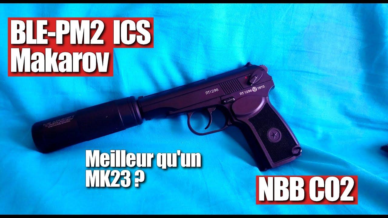 Airsoft BLE-PM2 ICS / Makarov / Review FR / le MK23 Killer ?