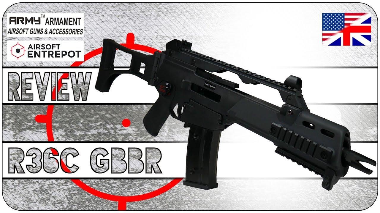 Airsoft Review ENG – Armement de l'Armée R36C GBBR – Airsoft Entrepot