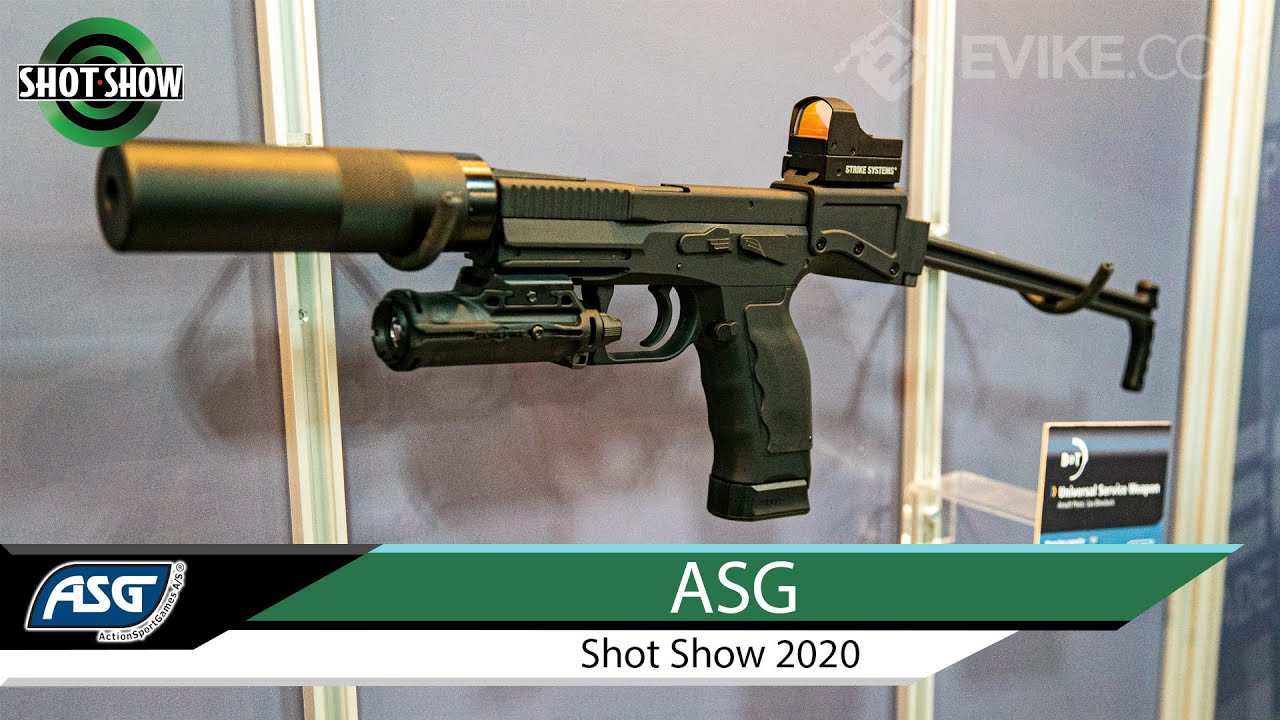 Arme de service universel B&T GBB, EVO ATEK AEG + PLUS – ASG @ Shot Show 2020
